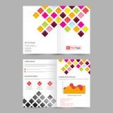 与五颜六色的正方形的企业小册子 库存图片