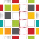 与五颜六色的正方形的无缝的孟菲斯样式样式 库存例证
