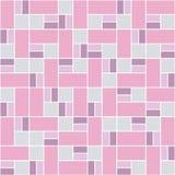 与五颜六色的正方形的无缝的样式 向量例证