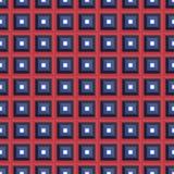 与五颜六色的正方形的无缝的样式 免版税库存图片