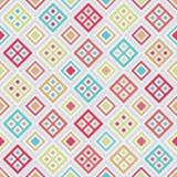与五颜六色的正方形的样式 向量例证