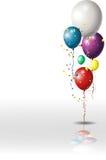 与五颜六色的气球的假日背景 免版税库存图片