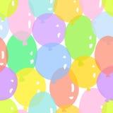 与五颜六色的气球的样式 免版税库存图片
