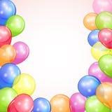 与五颜六色的气球的节假日背景 免版税库存图片