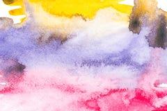 与五颜六色的油漆污点的抽象绘画 免版税库存图片