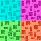 与五颜六色的漩涡的传染媒介抽象背景 免版税库存图片