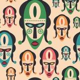 与五颜六色的狂欢节面具的无缝的样式 图库摄影