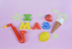 与五颜六色的玩具的圣诞节2015年装饰 免版税图库摄影
