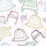 与五颜六色的盖帽的无缝的纹理 库存图片