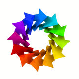 与五颜六色的箭头的徽标设计 图库摄影