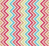 与五颜六色的线的无缝的几何样式 库存例证