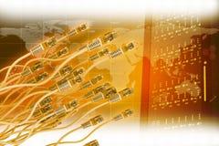 与五颜六色的缆绳的抽象背景 免版税库存照片