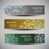 与五颜六色的网络概念的横幅或倒栽跳水设计 库存照片