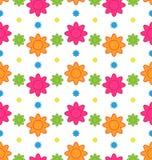 与五颜六色的花的无缝的花卉样式,美好的样式 库存照片