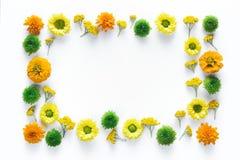 与五颜六色的花的框架 库存照片