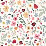 与五颜六色的花的花卉无缝的样式 免版税库存图片