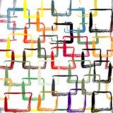 与五颜六色的被绘的正方形的样式 库存照片