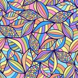 与五颜六色的要素的抽象无缝的模式 库存图片