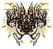 与五颜六色的部族异常的蜘蛛飞溅 库存图片