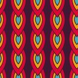 与五颜六色的链子的无缝的样式 免版税图库摄影