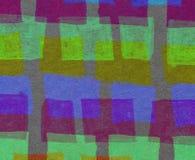 与五颜六色的长方形的抽象背景 图库摄影