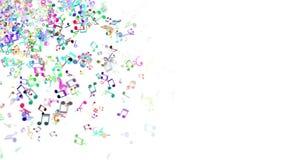 与五颜六色的音乐笔记的抽象背景 无缝的圈 库存例证