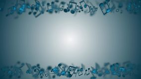 与五颜六色的音乐笔记的抽象背景 无缝的圈 皇族释放例证