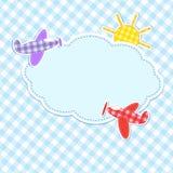 与五颜六色的飞机的框架 免版税图库摄影