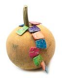 与五颜六色的马赛克碧玉宝石小珠的南瓜 免版税库存图片