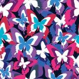 与五颜六色的蝴蝶的美好的无缝的样式 向量例证