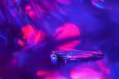 与五颜六色的bokeh、聚焦、反射和斑点的抽象 库存图片