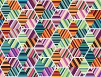 与五颜六色的hexagones的抽象样式 向量例证