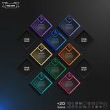 与五颜六色的rhombs的传染媒介infographic设计 免版税库存照片