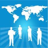 与交互选择组织的世界地图 向量例证
