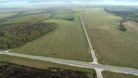 与交叉路天线录影的自然风景 影视素材