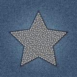 与亮晶晶的小东西的牛仔裤星 库存照片