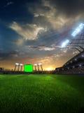 与人爱好者的体育场日落 3d使例证多云 免版税库存图片