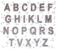 与人的字母表 免版税库存图片