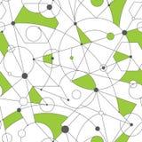 与任意几何形状和线的栅格无缝的样式 库存照片