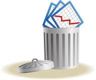 与企业标志的垃圾桶 免版税图库摄影