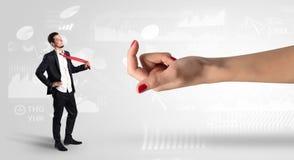 与企业概念的被混淆的和被亲吻的商人 免版税库存图片