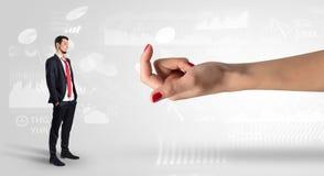 与企业概念的被混淆的和被亲吻的商人 库存照片
