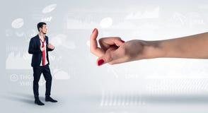 与企业概念的被混淆的和被亲吻的商人 图库摄影