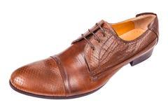 与企业鞋子的男性时尚在白色 库存图片