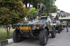 与伊斯兰教国家外部危机战斗的印度尼西亚军事 免版税库存照片