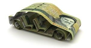 与伊朗里亚尔的汽车财务 向量例证