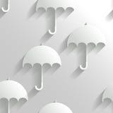 与伞的抽象无缝的背景 免版税库存照片