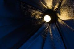 与伞的LED光 免版税图库摄影