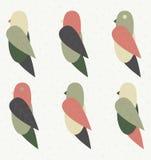 与传单的传染媒介鸟 免版税库存图片