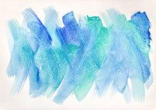 与传神刷子冲程的艺术性的水彩背景 库存图片